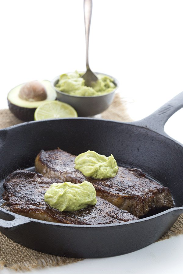 Top your favourite steak with this deliciously creamy avocado cilantro sauce!