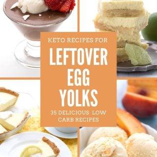 Collage of recipes for leftover egg yolks