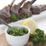 My new favorite dinner. Pan Seared Lamb Chops with Lemony Gremolata. Low carb and keto recipe.