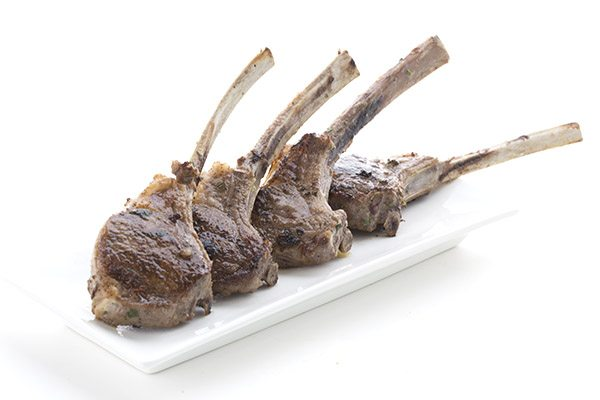 Delectable low carb pan-seared lamb chops.