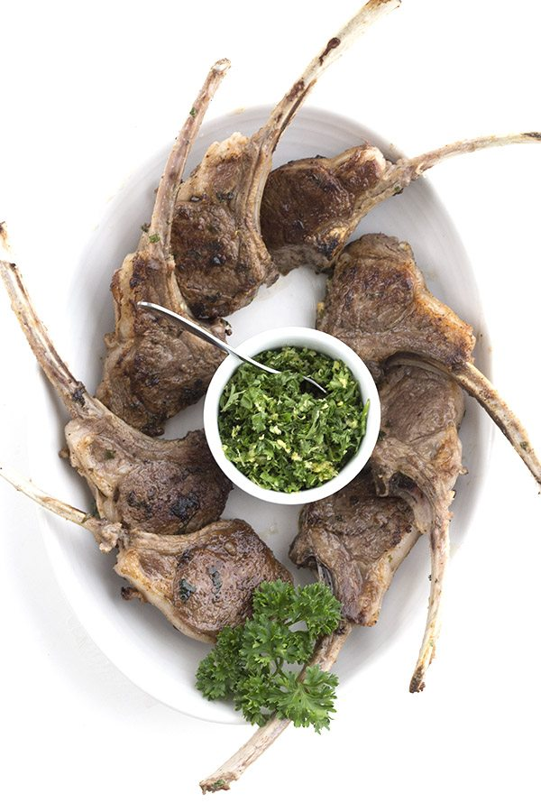 Keto lamb chops with a bright parsley lemon topping. Perfect low carb spring meal.