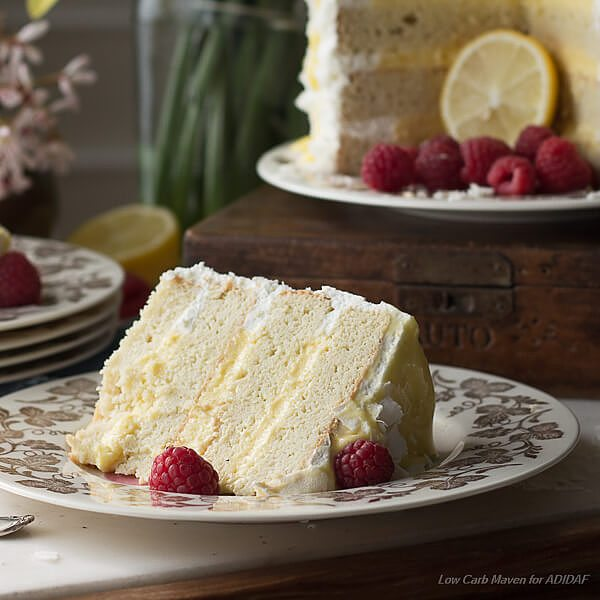 Wow your guests with this amazing low carb coconut layer cake recipe.