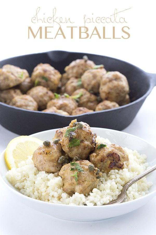 Low Carb Keto Chicken Piccata Meatballs