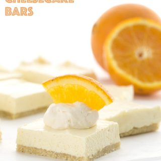 No Bake Creamsicle Cheesecake Bars
