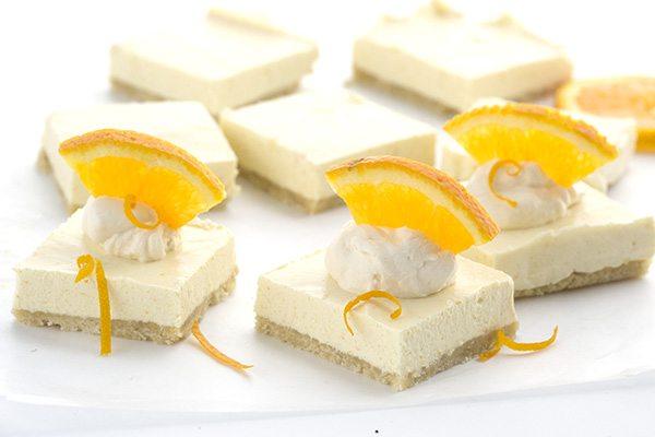Low carb keto Orange Creamsicle Cheesecake Bars