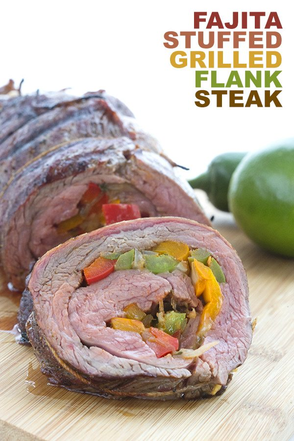 Low Carb Fajita Stuffed Flank Steak Recipe