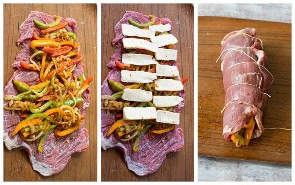 How to make fajita stuffed flank steak