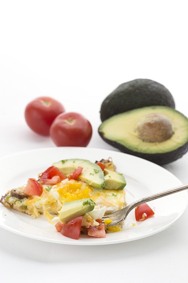 Top your healthy cauliflower pizza crust with your favourite low carb keto breakfast toppings!