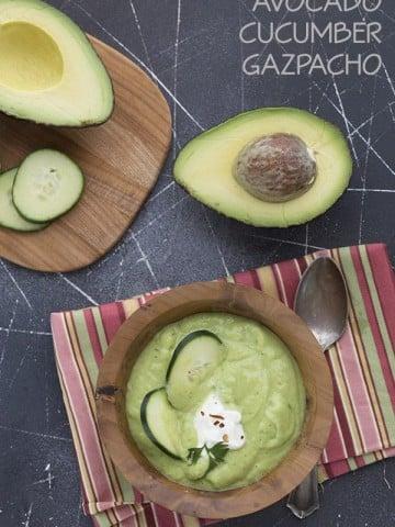 Low Carb Avocado Cucumber Gazpacho Recipe