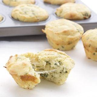 Low carb muffins that taste like cheesy garlic bread!