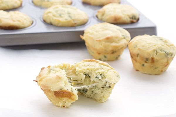Low carb muffins that taste like cheesy garlic bread!
