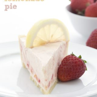 Frozen Strawberry Lemonade Pie