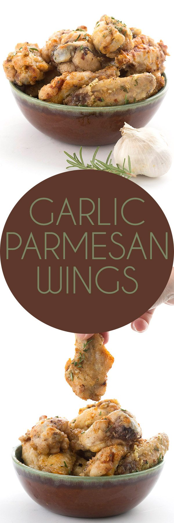 Simply the best keto garlic parmesan wings recipe. Crispy oven baked wings in a buttery garlic parmesan sauce. The best low carb wings you'll ever eat! #lowcarb #chickenwings #garlicparmesan #keto #ketodiet