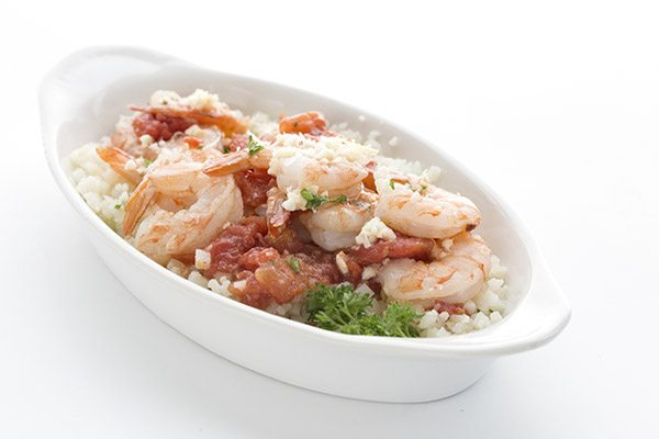 Delicious low carb Greek Shrimp recipe.