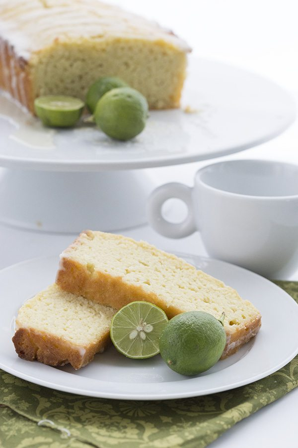 Easy low carb pound cake with key limes.