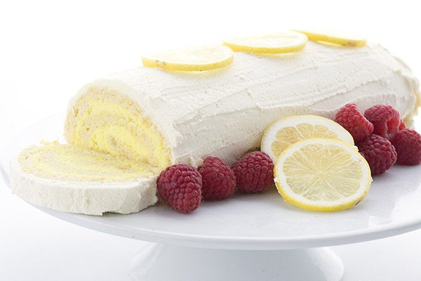Delicious and super keto cake recipe. Lemon Cake Roll with only 3g carbs per slice!