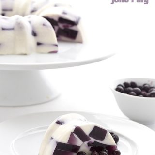 Blueberries and Cream Jello Ring
