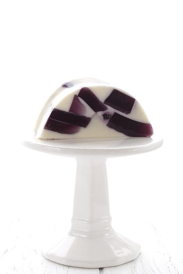 Fun and funky blueberry jello ring. Low carb and sugar-free.