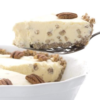 Butter Pecan Ice Cream Pie and a Swerve Giveaway