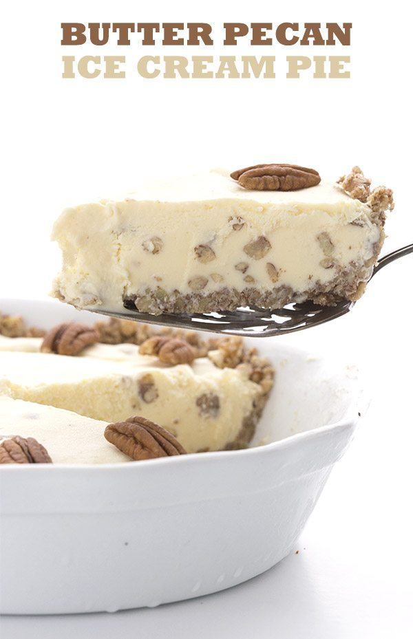 Low Carb Butter Pecan Ice Cream Pie Recipe