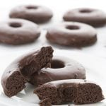 Coconut Flour Chocolate Donuts with Chocolate Glaze
