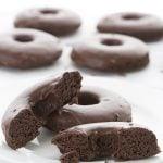 Coconut Flour Chocolate Donuts with Chocolate Glaze