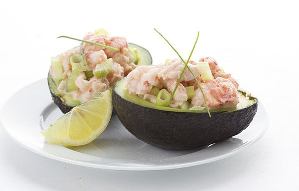 Easy keto meal idea: lobster roll stuffed avocados