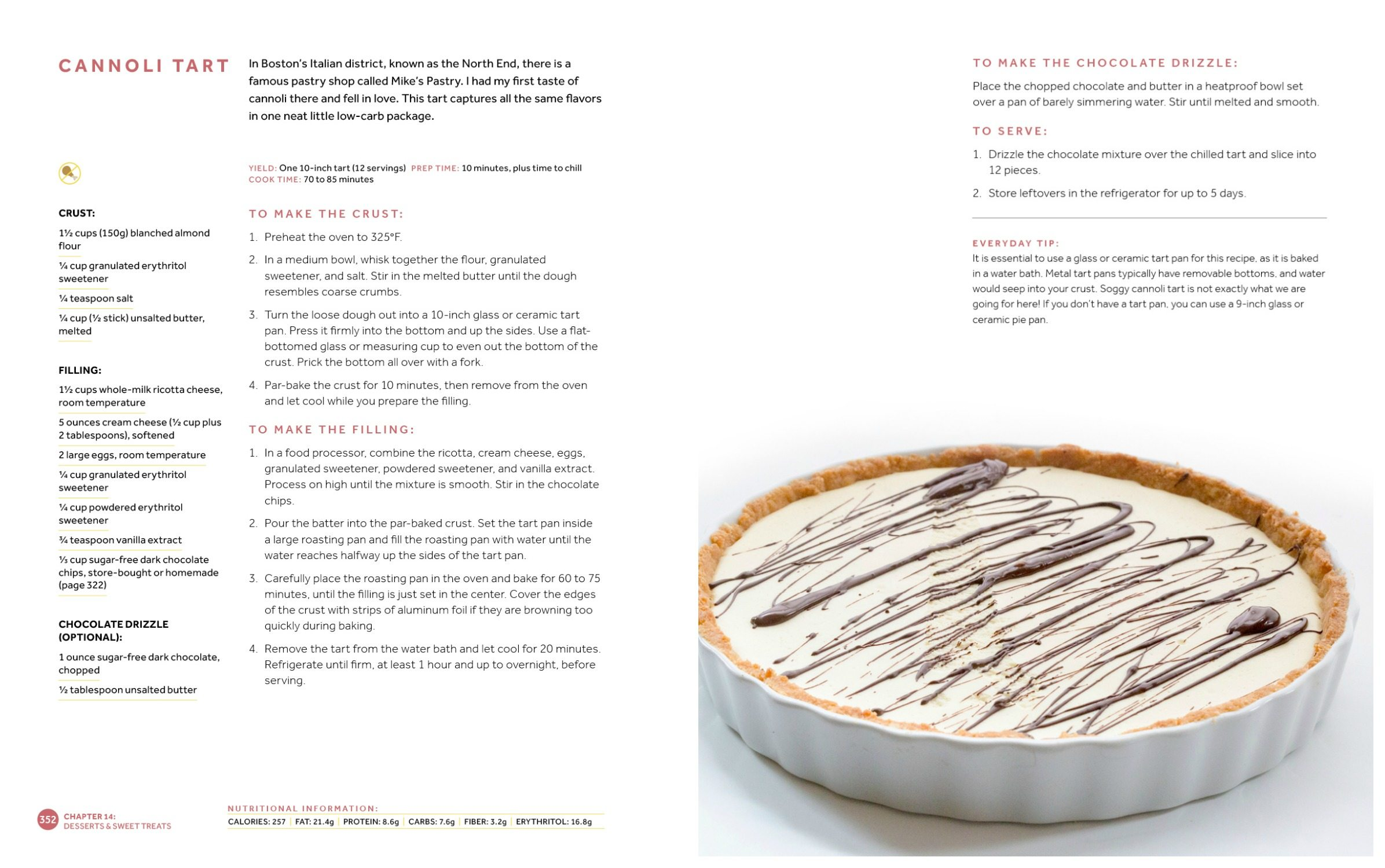Low Carb Keto Cannoli Tart Recipe