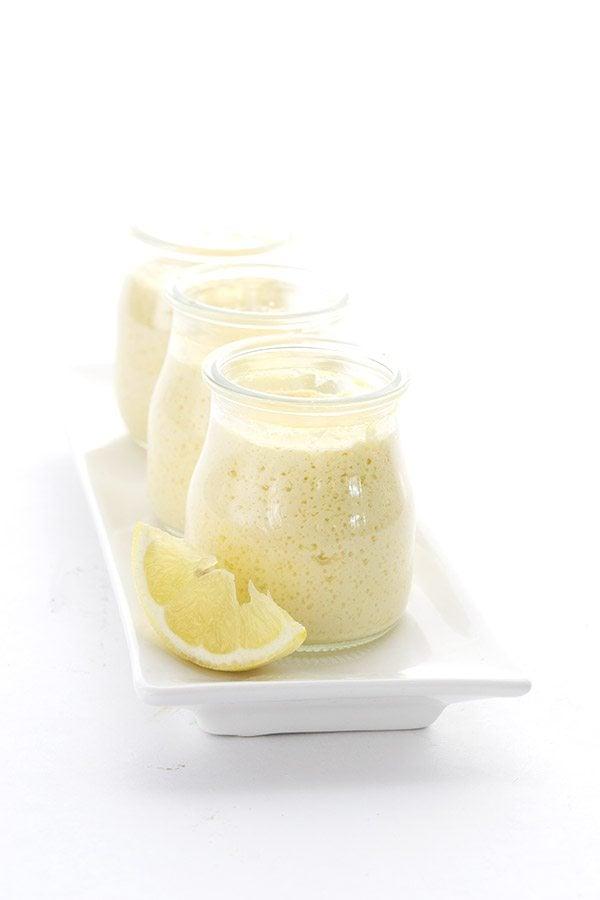 Easy crock pot lemon custard. A delicious low carb dessert!
