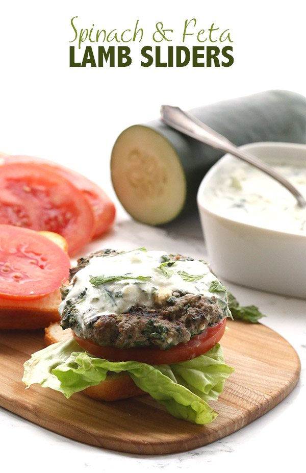 Low Carb Keto Spinach Feta Lamb Burgers