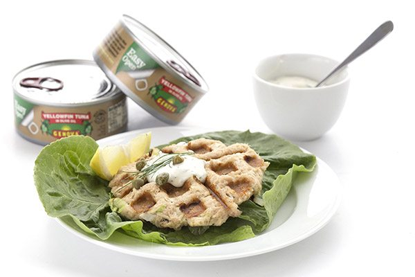 These waffled tuna cakes are a delicious low carb, grain-free meal!