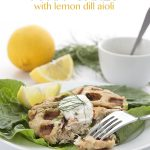 Low Carb Waffled Tuna Cakes with Lemon Dill Aioli