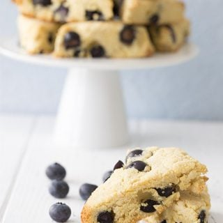 Low Carb Classic Blueberry Scones