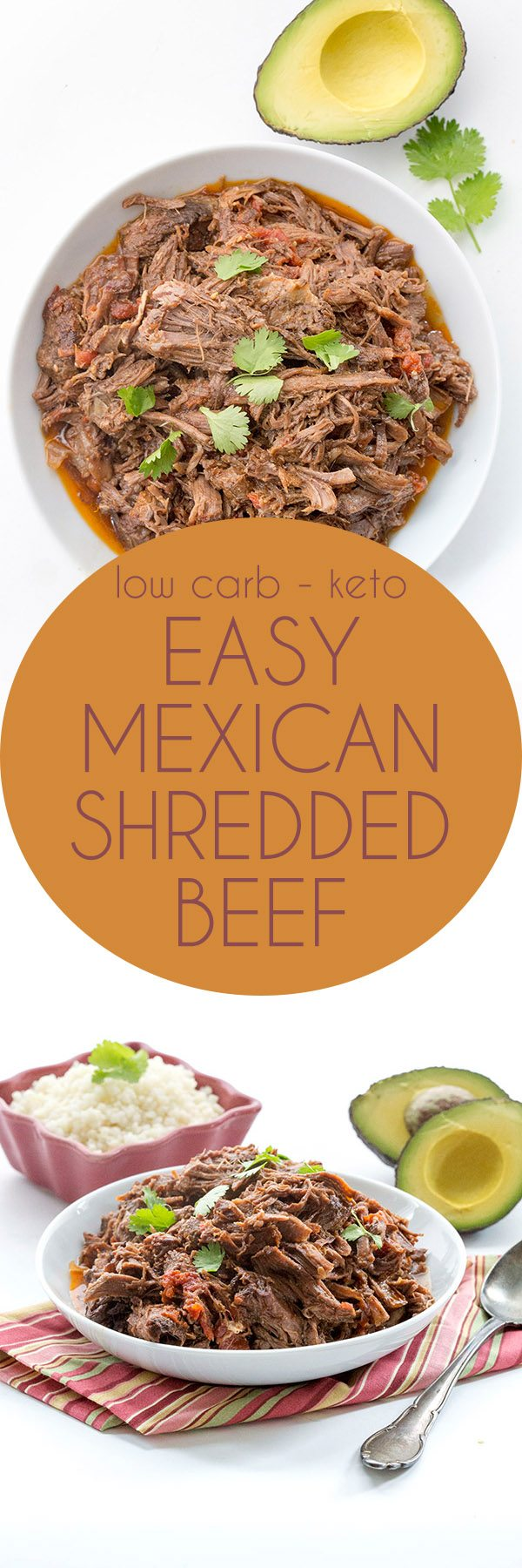 Easy keto dinner recipe, this low carb shredded Mexican Beef is bound to be a hit with the whole family. Paleo and dairy-free.