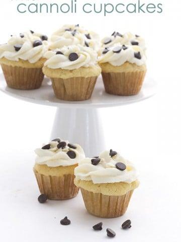 Mini Low Carb Cannoli Cupcakes