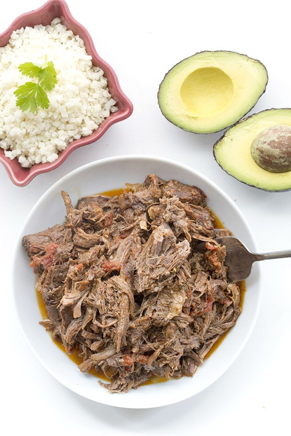 Easy paleo and keto dinner recipe - Mexican Shredded Beef