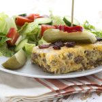 Easy Cheeseburger Pie in a slow cooker