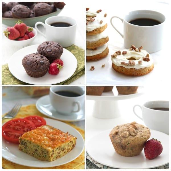 Collage of Keto Zucchini Breakfast Recipes