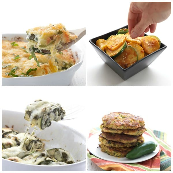 Collage of Keto Zucchini Side Dishes