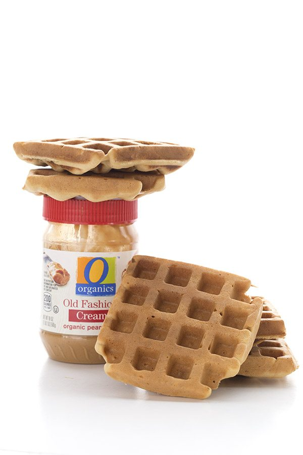 Organic peanut butter makes great waffles!