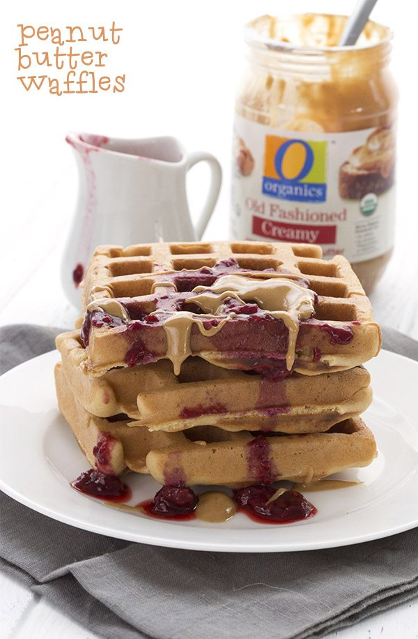 Low Carb Peanut Butter Blender Waffles