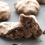 Crispy chewy low carb chocolate chip meringues