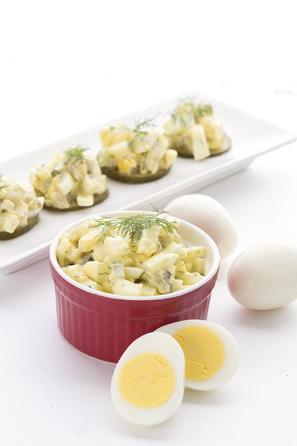This keto Dill Pickle Egg Salad is a delicious twist on a classic!