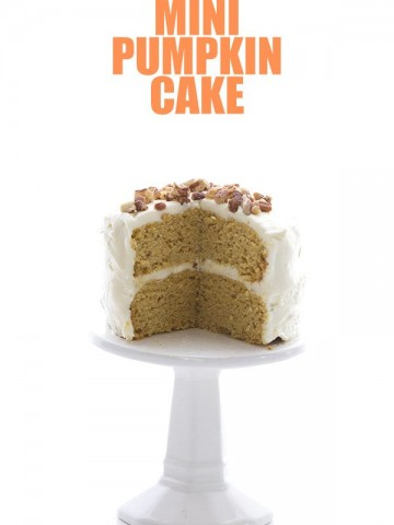 Low Carb Pumpkin Cake with Cream Cheese Frosting
