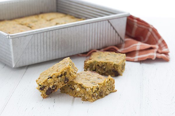 Delicious low carb and grain-free pumpkin breakfast bars