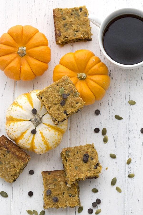 Low Carb Pumpkin Chocolate Chip Bars Recipe