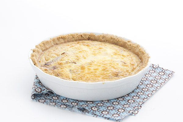 Delicious low carb quiche packed with Canadian Bacon