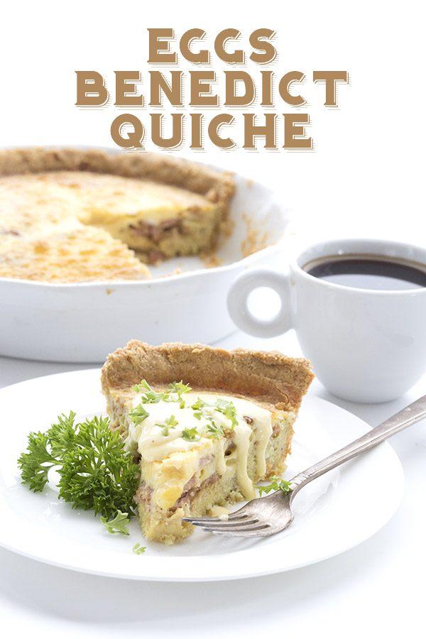 Keto Eggs Benedict Quiche Recipe