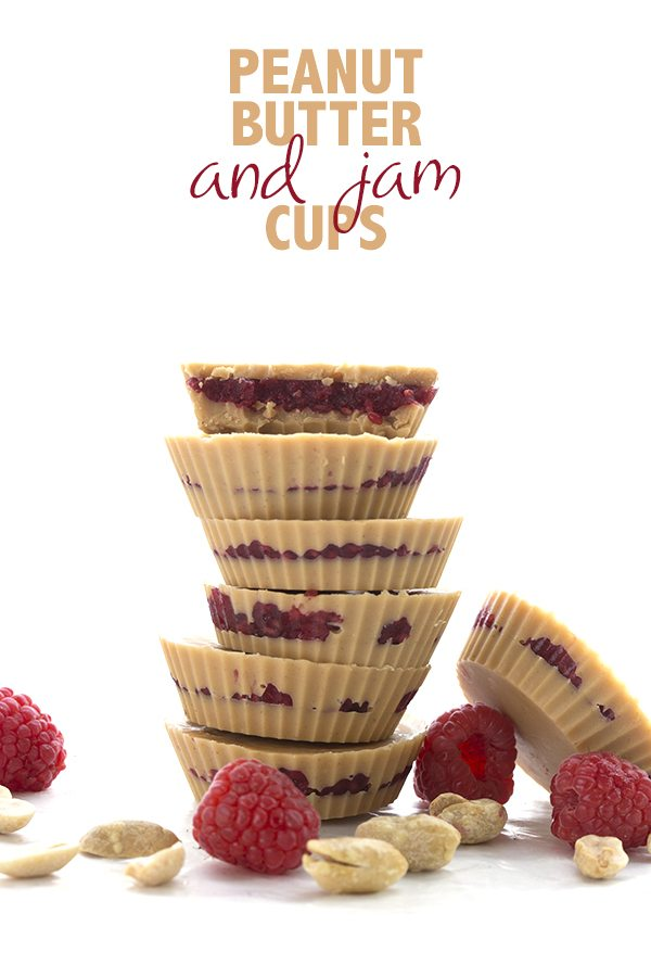 Easy and delicious keto fat bombs. Peanut Butter and Jam Cups!
