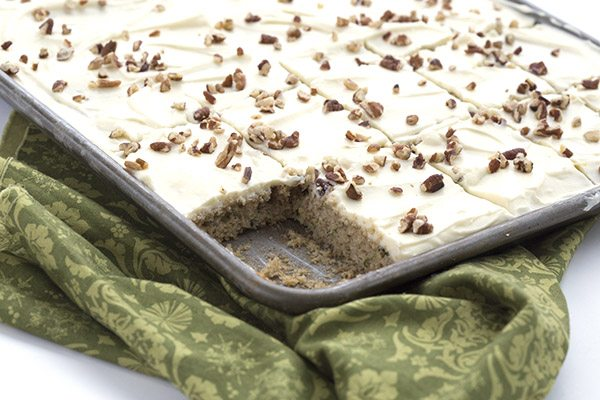 Low Carb Zucchini Sheet Cake
